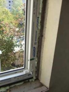 Műanyag ablak takarólécezés előtt