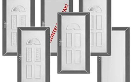 """Akciós """"Light"""" műanyag bejárati ajtók, 5 pontos ELZETT rúdzárral"""