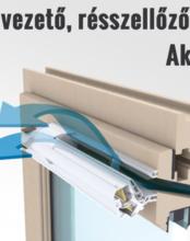 Légbevezető, résszellőző beszerelés meglévő műanyag ablakba