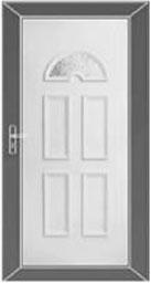 műanyag bejárati ajtó KÖLN, 1 üveges